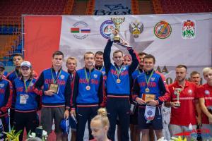 Сборная студенческого спортивного клуба ПГУ «Беркут» стала чемпионом Спартакиады Союзного государства по футболу